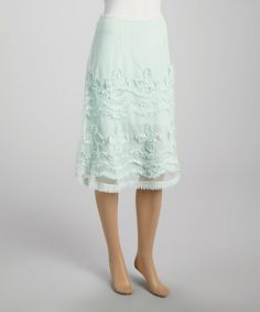 Another great find on #zulily! Mint Embroidered Skirt #zulilyfinds