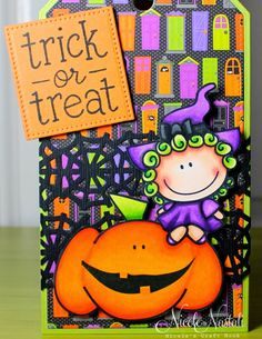 Nicole's Craft Nook: Trick or Treat -- 2 Tags -- Loves Rubberstamps