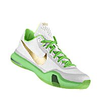 I designed the white Charlotte 49ers Nike men's basketball shoe with green and gold trim.