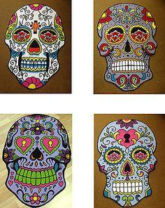*NEW* Sugar Skull Rugs - Tattoo Art - Day of the Dead Inspired Flooring 100x150