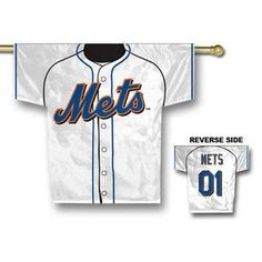 New York Mets MLB Jersey Banner 34x30 2-sided