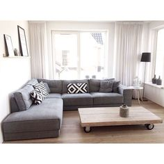 ikea living room sofa - Home and Textiles Cottage Style Living Room, Living Room Grey, Living Room Sofa, Home Living Room, Apartment Living, Living Room Designs, Living Room Decor, Ikea Living Room Furniture, Ikea Couch