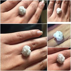 A RARE 15 CARAT WHITE RAW NATURAL DIAMOND for a custom order. This size this quality only on Gems Diamonds By SHIKHA