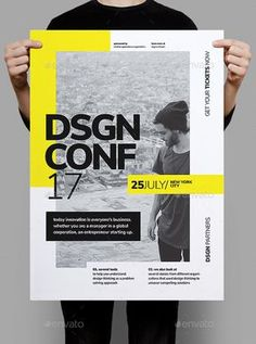 Conference Poster / Flyer — Photoshop PSD d. - Informations About Conference Poster / Flyer — Photoshop PSD d. Pin You ca Event Poster Design, Event Posters, Graphic Design Posters, Typography Design, Poster Designs, Event Design, Typo Design, Graphic Design Templates, Graphic Design Layouts