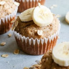 Quick and Easy Banana Oat Muffins recipe from quick easy healthy banana oat muffins weight watchers weightwatchers ww wwfreestyle recipe RecipeGirl Quick Oat Recipes, Fun Easy Recipes, Banana Recipes, Milk Recipes, Muffin Recipes, Quick Easy Meals, Breakfast Recipes, Flour Recipes, Dinner Recipes