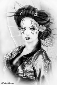 Photograph Geisha bn by Pedro Justicia Lightangel on 500px