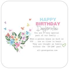 Happy Birthday Daughter In Law Free CardsBirthday Wishes Greeting