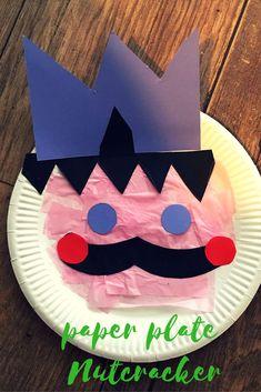 Paper plate Nutcracker craft for kids