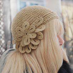 Girls Hat- Crochet Hat - Flower Crochet - Cloche Hat - Warm- Fall Fashion - Winter Accessories