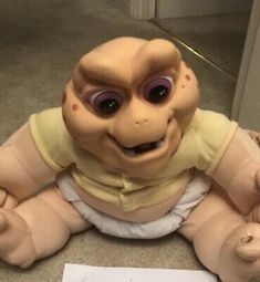 Baby Sinclair Dinosaur Original Vintage Pull Cord Talking Not The Mamma.Has a few marks on his tail and foot ( see photos) Still has talking voiceIn great conditions considering his age. Dinosaurs Tv Series, Disney Dinosaur, Jim Henson, Cartoon Tv, Best Shows Ever, Walt Disney, Cord, Action Figures, Musicals