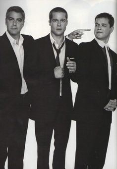 George Clooney, Brad Pitt and Matt Damon