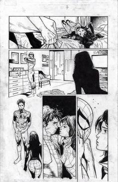 Amazing Spider-Man #9 interior art by Olivier Coipel