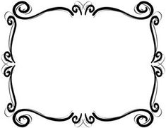 Fancy Frame Clip Art Black And White Clipart Panda Free Clipart Images Gallery Backgrounds Ornate Squiggles Fancy Ornate Grey Frame Fr. Borders For Paper, Borders And Frames, Borders Free, Page Borders Design, Border Design, Victorian Frame, Doodle Frames, Frame Clipart, Printable Designs