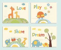 Nursery art prints Baby Room decor Nursery Art by DesignByMaya, $65.00