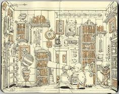 carnet croquis 05 720x570 Les carnets de croquis de Mattias Adolfsson  featured design bonus