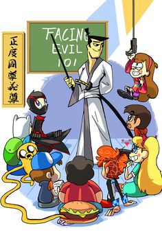 Samurai Jack,Randy Cunningham, Adventure Time, Gravity Falls, Steven Universe, Star vs The Forces of Evil
