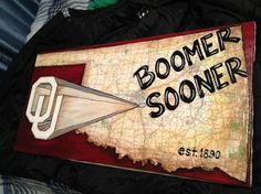 Oklahoma University Boomer Sooner map