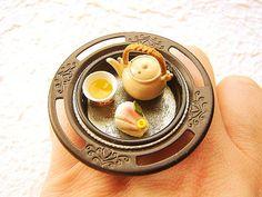 Japanese Food Ring Wagashi Green