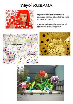 art project in the style of Yayoi Kusama...I don't think I would want to do the project suggested here, but I could certainly come up with something else inspired by her style of work.: