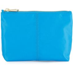 Neiman Marcus Taylor Small Zip Pouch ($10) ❤ liked on Polyvore featuring bags, handbags, clutches, blue ocean, neiman marcus handbags, nylon purse, blue clutches, pouch purse and nylon pouch