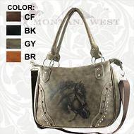 Grey Montana West Ridem Cowgirl Collection Handbag