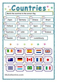 Match-up: Countries and flags