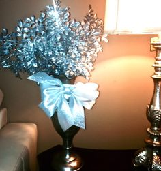 The winter season offers a lot of sparkley options for year round decor
