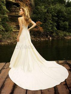 Taffeta Sweetheart Delicately Gathered Bodice A-line Wedding Dress