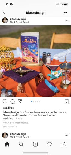 Disney Renaissance, Centerpieces, Table Decorations, Party, Wedding, Home Decor, Creativity, Valentines Day Weddings, Decoration Home