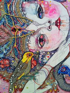 detail - come of things, Del Kathryn Barton Art Gallery NSW. Art And Illustration, Illustrations, Kunst Inspo, Art Inspo, Contemporary Abstract Art, Contemporary Artists, Modern Art, Australian Artists, Indigenous Australian Art