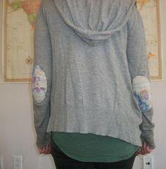 cute elbow patches that breathe new life into a plain old sweater!
