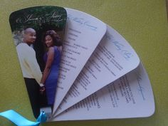 Items similar to Wedding Program: Fan Wedding Program with Custom Photo Cover on Etsy