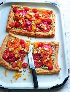 ricotta tart, food recipes, brunches, tomato, eat, food photography, bingo, goat cheese, travel foods