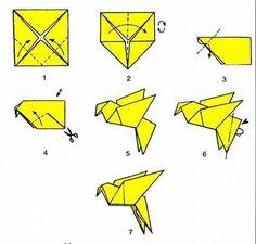 Origami Hummingbird Diagram Instructions Kenmore Electric Dryer Parts Tweety Bird Origa Easy