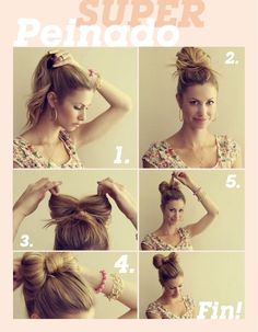Super cute and simple hairstyle.