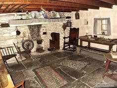 Inside an old Manx farmhouse. Peter Killey