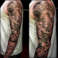 Angel sleeve tattoo designs
