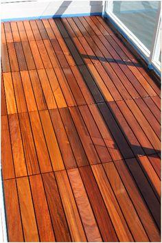 Sealed Ipe wood deck tiles