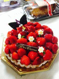 christmas cake. スイーツ:クリスマスケーキ♥️