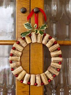 manualidades coronas navideñas para puertas   31 coronas de Navidad con instrucciones para hacerlas - Trucos y ...