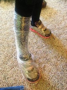 Duct tape boots