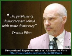 """""""The problems of democracy are solved with more democracy. Us Electoral System, Political System, Civil Rights, Growing Up, How To Become, Alternative, Politics, Canada, Watch"""