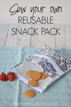 Sewing Crafts To Make and Sell - Reusable Snack Packs - Easy DIY Sewing Ideas To Make and Sell for Your Craft Business. Make Money with these Simple Gift Ideas, Free Patterns, Products from Fabric Scraps, Cute Kids Tutorials http://diyjoy.com/crafts-to-make-and-sell-sewing-ideas