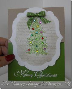 Sunday, November 11, 2012   Stampingleeyours: Beautiful Evergreen!! Sparkly too!! SAM_2510