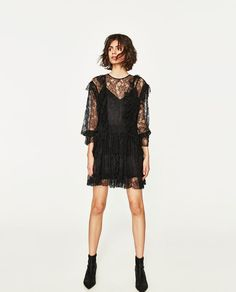 ZARA - WOMAN - DRESS WITH LACE AND FRILL