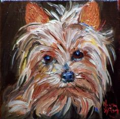 Norma Wilson Oil Yorkshire Terrier Dog Pet Portrait, painting by artist Norma Wilson