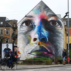 Freehand spray paint mural by artist @artofdavidwalker #supportart #support…