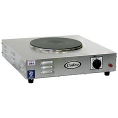 Cadco LKR-220 Countertop Heavy Duty Cast Iron 220-Volt Hot Plate