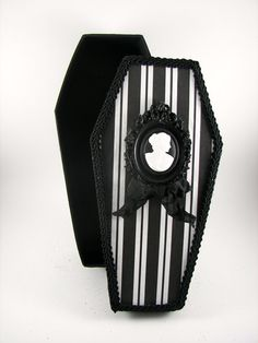 Spooky Halloween Coffin Decoration by SparkleLovesWhimsey on Etsy, $15.00