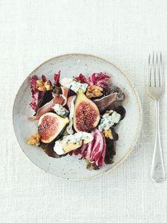 Salade figues et roquefort